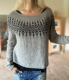 Ravelry: Gardengate pattern by Jennifer Steingass Knitting Designs, Knitting Projects, Sport Weight Yarn, Fair Isle Knitting, How To Purl Knit, Knit Picks, Knitting For Beginners, Wool Sweaters, Knitting Patterns