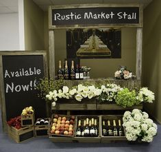 rustic farmers market stands. This would work great for a soap vendor.