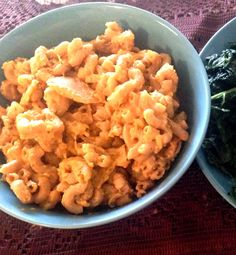 Vegan Butternut Squash Mac and Cheese + Garlicky Sauteed Kale | Peaceful Dumpling