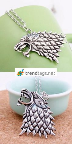 Game of Thrones - Song of Ice and Fie - Necklace - Wolf - FREE WorldWide Shipping on { trendtags.net }   #movies #theatre #video #TagsForLikes #movie #film #films #cinema #instamovies #star #moviestar #photooftheday #instagood