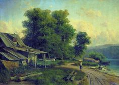 Landscape, Pargolovo (1868) by Fyodor Vasilyev.
