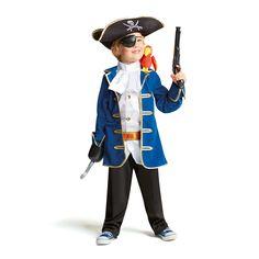 Vêtu de ce déguisement complet de pirate, le petit brigand a tout d'un grand…