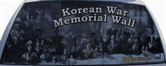 Korean War Memorial Wall Rear Window Graphic