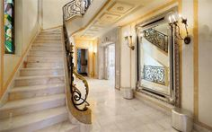 Beautiful staircase of a French Riviera villa