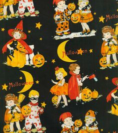 Trick or treat? Love this #Halloween fabric :)