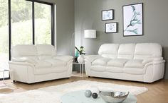2-seater leather sofas in white best choice to brighten up your space