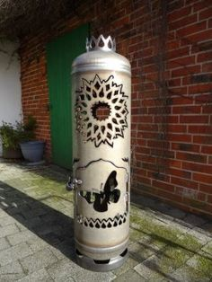 Custom Fire Pit, Sculpture, Ebay, Awesome Inventions, Fire Safety, Design For Home, Flasks, Fire Pits, Candle Wax