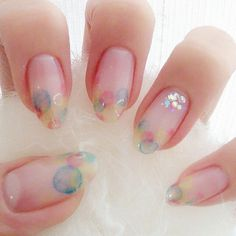 Soft, watercolours | maco_nail