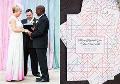 Modern geometric texas wedding   Photo by Cory Ryan   Read more - http://www.100layercake.com/blog/?p=71871