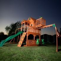 Skyfort Cedar Play Set with Slide...I want it for me...i guess monkey can play on it too lol