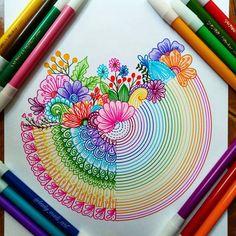 35 Best Ideas For Beautiful Art Drawings Awesome Artworks Doodle Art Drawing, Mandalas Drawing, Zentangle Drawings, Zentangle Patterns, Art Drawings, Zentangles, Zen Doodle, Sketch Drawing, Dibujos Zentangle Art