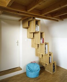 Staircase/bookshelf by Atelier SAD (via @abduzeedo).