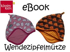 ebook Wendezipfelmütze Wendemütze Schnittmuster - ebook von Klimperklein - Nähanleitungen Baby - E-Books & Anleitungen - DaWanda