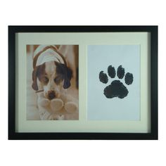 A great gift idea for any day of the year for any dog lover out there :) find a personal photo, an ink pad and a piece of paper. After you get the paw print seal the two together forever in a personalized frame!