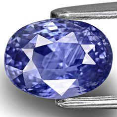 3.97-Carat Unheated Eye-Clean Velvety Intense Blue Sapphire