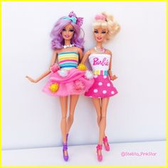 PinKstar style collection for barbie swappin style.   handmade outfits