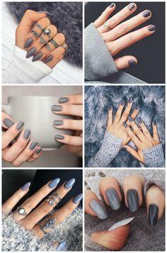 Esmalte cinza: a escolha certa para unhas chiques