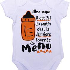 Personnalisable body grenouillère bébé une autre tournée papa