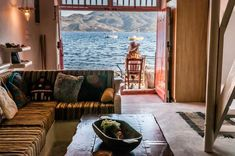 Dream Boathouse || Located in Klima Village of Milos, this traditionally decorated Dream Boathouse is right on the beach and offers views over the Aegean Sea. Free WiFi is offered throughout the property.