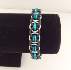 Stretchy Helm Weave chainmaille bracelet in by DragonTearDesigns