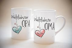 Good Totally Free Ceramics Cups for kids Thoughts Weltliebste Oma & Opa – Tassen Set oder Einzeln – individuell, personalisierbar, Geschenk, Grandma And Grandpa, Grandma Gifts, Presents For Kids, Christmas Presents, Christmas Christmas, Christmas Coffee, Cheap Gifts, Diy Gifts, Tassen Design