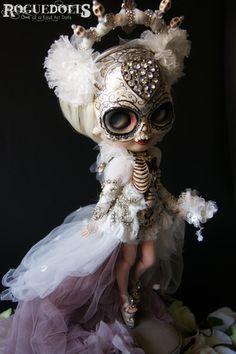 On Ebay http://www.ebay.com/itm/141005967562 Dia de Los Muertos One of A Kind Art Doll OOAK Custom Blythe by Roguedolls www.theroguedolls.com
