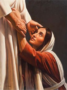 View prints, canvases, etc. of My Redeemer by Del Parson. Lds Art, Bible Art, Image Jesus, Marie Madeleine, Jesus Tattoo, Pictures Of Jesus Christ, Christian Pictures, Christian Artwork, Jesus Painting