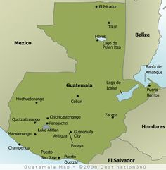 Guatemala location (Interest#2) I think the location of Guatemala is very interesting also because its bordered by  Mexico, Honduras, Belize, and El Salvador as well as the Pacific Ocean. Also Guatemala is about the size of Tennessee.