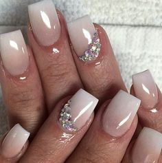 French ombre wedding nails