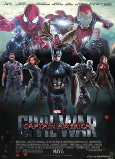 #Avengers #Fan #Art. (Captain America: Civil War Poster) By: Timetravel6000v2. ÅWESOMENESS!!!™