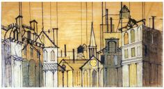 Set design for 'Anyone Can Whistle' by William and Jean Eckart