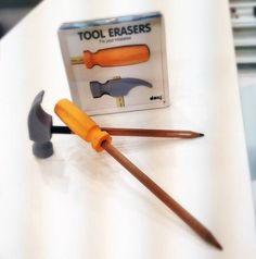 Tool Erasers by Doiy Design! halariouss