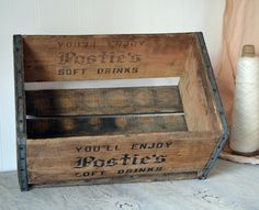 Postie's Soft Drinks Crate by OldTimePickers on Etsy, $38.00