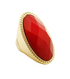 RED GOLD STRETCH RING
