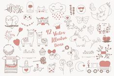 Mom! I'm in Love! Vector Set by Creative Veila on @creativemarket