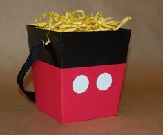 Mickey Mouse Pants Inspired Favor Bucket or by CraftsForKids, $4.00