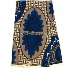 Bold African Wax Print  by the yard/ African Clothing fabric/ African fabric…