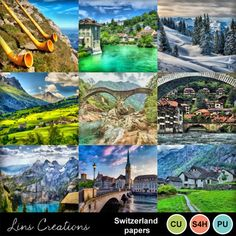 Digital Scrapbooking Kits | Switzerland papers-(LinsCre) | Commercial Use, Nature, Outdoors, Seasons, Vacations - Travel | MyMemories