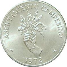 Moneda de plata 5 Balboas Panamá 1972 Asentamiento., Tienda Numismatica y Filatelia Lopez, compra venta de monedas oro y plata, sellos españa, accesorios Leuchtturm