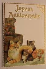 +Carte Anniversaire Chat Cartes r3D Animaux-severinecreation57.fr-recherche google