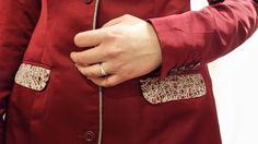 interesting contrasting flap pocket design from Dangerousmathematicians.com