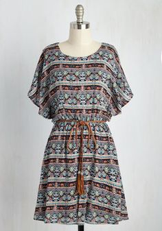 Altogether Entrancing Striped Dress in Botanical. Youre a vision from head to toe as you glide through your day in this printed dress! Stylish Dresses For Girls, Stylish Dress Designs, Cute Dresses, Summer Dresses, Party Dresses, Indian Fashion Dresses, Girls Fashion Clothes, Fashion Outfits, Bohemian Dresses