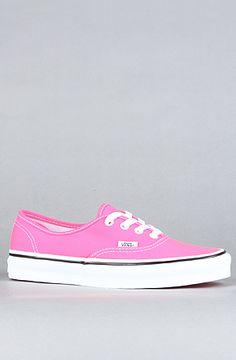 The Authentic Sneaker in Neon Pink by Vans Footwear