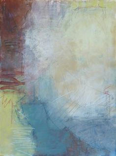 """Martica Griffin, """"Looking Down"""", Mixed Media on Paper, 30x22 - Anne Irwin Fine Art"""