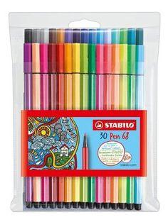 Stabilo Pen, Stabilo Boss, Marker Pen, Permanent Marker, Stabilo Point 68, Felt Tip Markers, School Suplies, Stationary Store, Fineliner Pens
