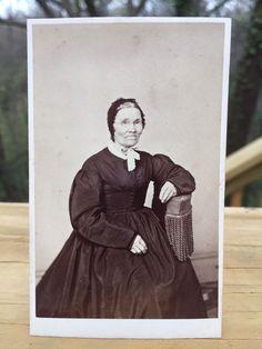 Antique CDV Photo 1800s Civil War era Older Woman Easton Pennsylvania by Tyler  | eBay