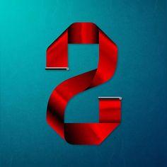 2! #36daysoftype #36days_2 #letter #design #numero #diseño #2D #2016 #2 by hotartworks