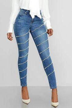 Pencil Pants Zipper Skinny Women's Jeans
