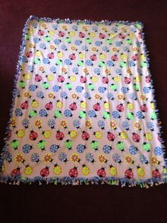 Girls blanket ladybug children's blanket kids blanket couch throw cuddle blanket lightweight