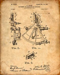 Sailing Sextant Patent Print From 1902 - Compass - Patent Art Print - Patent Poster - Nautical Steering - Boating - Sailing Navigation door VisualDesign op Etsy https://www.etsy.com/nl/listing/223360917/sailing-sextant-patent-print-from-1902
